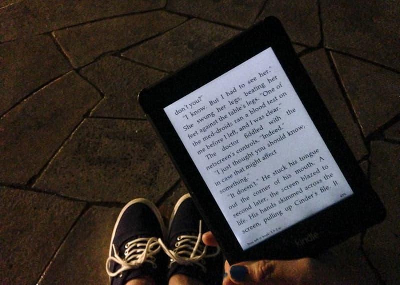 Kindle no escuro