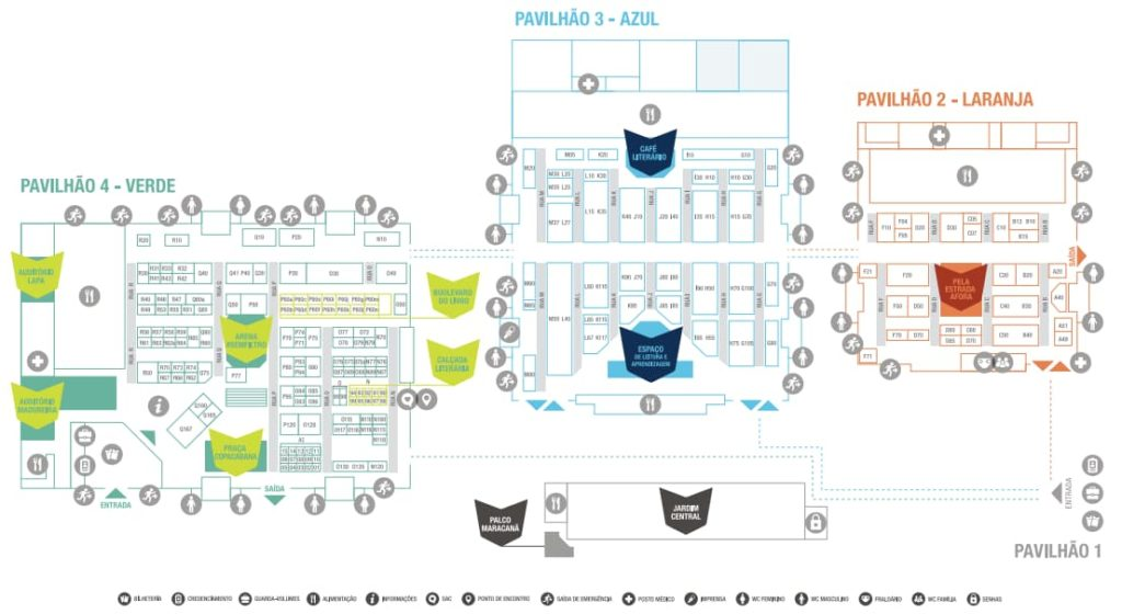 Mapa - Bienal do Livro